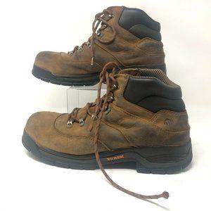 Wolverine Mens Cirrus Work Safety Boots Brown Blac